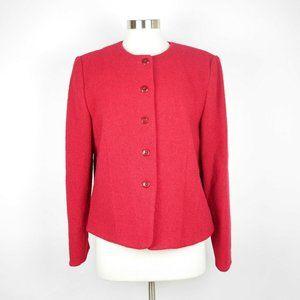 PENDLETON Red knit wool long sleeve blazer jacket